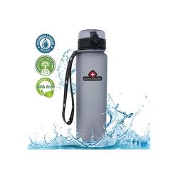 Höhenhorn Trinkflasche Höhenhorn Urach Trinkflasche 1L Wasserflasche Auslaufsicher Sport BPA-Frei grau