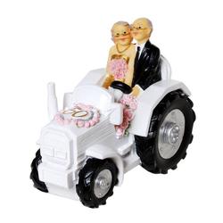Udo Schmidt Bremen...das Original Spardose Spardose Goldhochzeit Brautpaar auf Traktor 13 cm Hochzeit Sparschwein