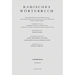 Badisches Wörterbuch: Band V/Lieferung 84 Badisches Wörterbuch - Buch