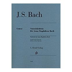 Notenbüchlein für Anna Magdalena Bach 1725  Klavier. Johann Sebastian - Notenbüchlein für Anna Magdalena Bach Bach  - Buch
