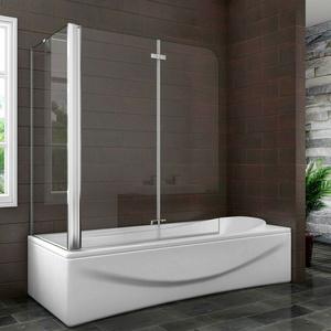 Nano+ESG Glas Faltwand Drehwand Trennwand Badewannenaufsatz Duschwand Abtrennung