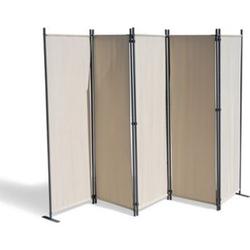 Grasekamp Paravent 5 teilig Beige 268 x 167 cm  Raumteiler Trennwand Sichtschutz