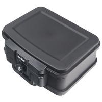 HMF Dokumentenkassette 250451, DIN A5, Zylinderschloss, feuerfest, wasserdicht,