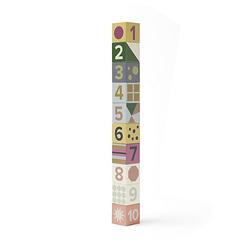 Holzklötze Edvin 10-teilig Bausteine mehrfarbig