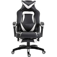 Vinsetto Bürostuhl mit Fußstütze schwarz / weiß