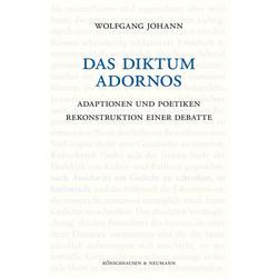 Das Diktum Adornos als Buch von Wolfgang Johann
