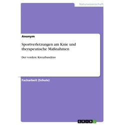 Sportverletzungen am Knie und therapeutische Maßnahmen: eBook von