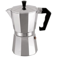 MSV Espressokocher Espresso Mokka Maker Kaffeebereiter Aluminium - 3, Tassen