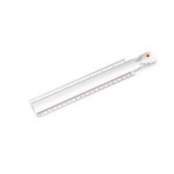 Vitility Vergrößerungslineal mit Lupe 2x Vergrößerung Griff 20 cm