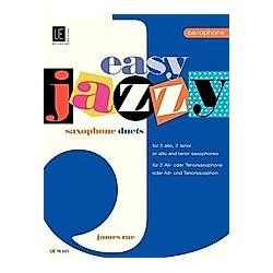 Easy Jazzy Duets - Saxophones  für 2 Saxophone (AA/TT/AT). James Rae  - Buch