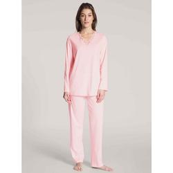 CALIDA Nachthemd Pyjama lang (2-tlg) Made in Europe rosa L = 48/50