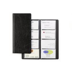 DURABLE Visifix® Visitenkartenalbum für 96 Visitenkarten, Kartenbuch zum Aufbewahren von Visitenkarten, Maße: 115 x 253 mm, schwarz