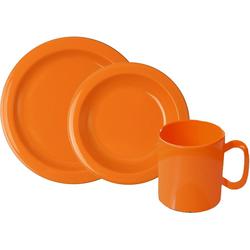 WACA Frühstücks-Geschirrset (6-tlg), Kunststoff orange