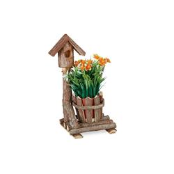 relaxdays Blumentopf Holz Blumentopf Baumrinde