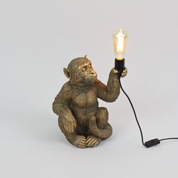 Kunststein Tischleuchte Monkey Sitzend