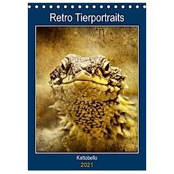 Retro Tierportraits (Tischkalender 2021 DIN A5 hoch)