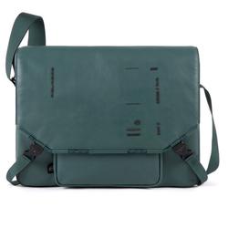 Piquadro Kyoto Messenger Leder 38 cm Laptopfach green