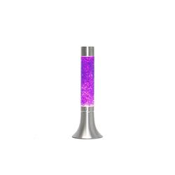 Licht-Erlebnisse Lavalampe YVONNE Lavalampe Lila retro Stimmungslicht 38cm hoch Lampe