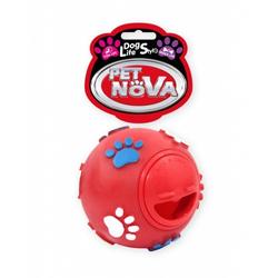 Hundespielzeug Kauspielzeug BALL-SNACK Leckerlieball  7,5cm rot