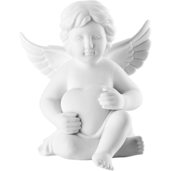 Rosenthal Engelfigur Engel mit Herz (1 Stück), Biskuitporzellan, unglasiert 5 cm x 6,4 cm x 4,8 cm