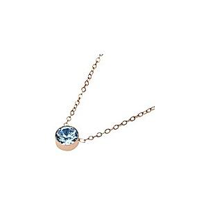 Crystals Halskette - Sparkle - rosévergoldet - Aquamarin