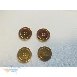 Knöpfe Knopf Jackenknopf Mantelknöpfe d=31 mm gold, 10 Stück
