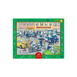 Spiegelburg Puzzle Rahmenpuzzle Viel los bei der Polizei (25 Teile), Puzzleteile