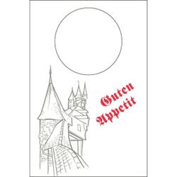 """Mank Lätzchen, 42 x 60 cm, Vlies Neutral, 1 Karton = 2 x 100 Stück = 200 Lätzchen, """"Ritterburg"""""""