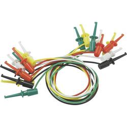VOLTCRAFT Messleitungs-Set [Abgreifklemmen - Abgreifklemmen] 0.28m Schwarz, Rot, Grün, Gelb, Weiß