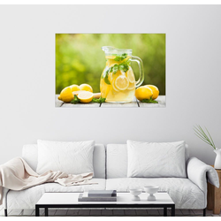 Posterlounge Wandbild, Limonade im Krug und Zitronen mit Minze 130 cm x 90 cm