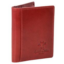 Gusti Leder Geldbörse Hal (1-tlg), Portemonnaie Kartenhülle Kartenhalter rot