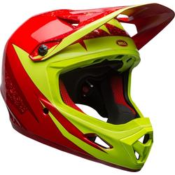 Bell Transfer-9 Downhill Helmet, red-yellow, Größe S