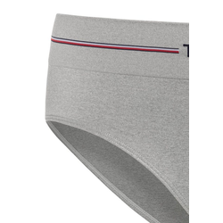 TOMMY HILFIGER Bikinislip Curve nahtloser Logo-Slip grau XXL