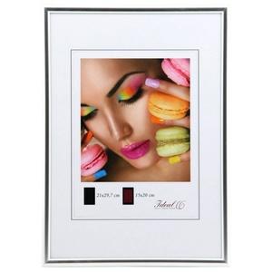 IDEAL TREND Bilderrahmen Ideal Life Kunststoff Bilderrahmen 10x15 cm bis 50x70 cm Bilder Foto Rahmen silberfarben