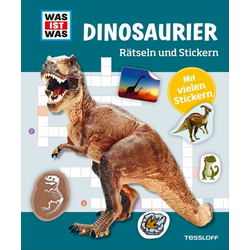 WIW Rätseln u.Stickern: Dinosaurier