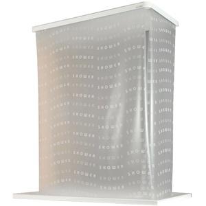 ECO-DuR,4024879010638,1 Paar Ersatzvorhänge ECK Duschrollo 134x62 cm - Shower weiß