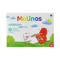 Amewi Dekorierstift Malinos Airbrush Pastell, 12 Stifte + 8 Schablonen