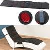 Newgen Medicals Ganzkörper-Vibrations-Massageauflage mit IR-Tiefenwärme, 5 Programme