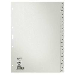 Leitz 4300 Register DIN A4 A-Z Tauenpapier Grau 20 Registerblätter 43000085