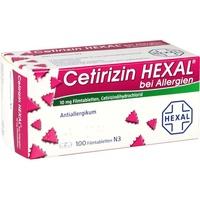 Hexal Cetirizin HEXAL Filmtabletten bei Allergien 100 St.