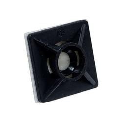 Klebesockel 19 x 19 mm für Kabelbinder bis 3,6 mm - Farbe schwarz - Beutel 100 Stück