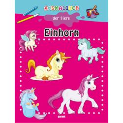 Ausmalbuch der Tiere Einhorn: Buch von