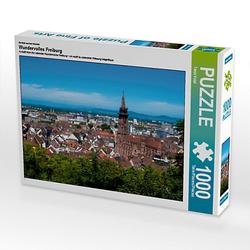 Wundervolles Freiburg Lege-Größe 64 x 48 cm Foto-Puzzle Bild von Midgardson Puzzle