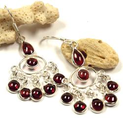 Guru-Shop Paar Ohrhänger Indische Silberohrringe im Bollywood Style,..