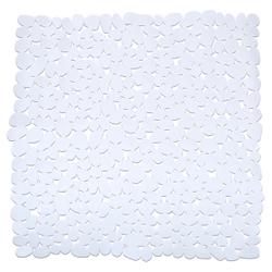 WENKO Paradise Duscheinlage, 54 x 54 cm, Duscheinlage mit Rutschstopp-Struktur für höchste Sicherheit, Farbe: weiß