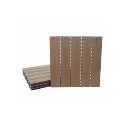 MCW WPC-Fliesen MCW-E20, Set, 4er Set, Lange Haltbarkeit braun 50 mm x 50 mm