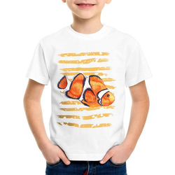 style3 Print-Shirt Kinder T-Shirt Clownfisch dorie pazifik nemo südsee aquarium aquarien 152