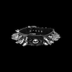 Rimba Leder-Halsband mit langen Killernieten