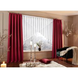 Kuvertstore Eby, my home, Kräuselband (1 Stück), Gardine, Fertiggardine, transparent weiß 300 cm x 100 cm