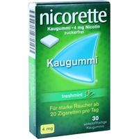 Nicorette Freshmint 4 mg Kaugummi 30 St.